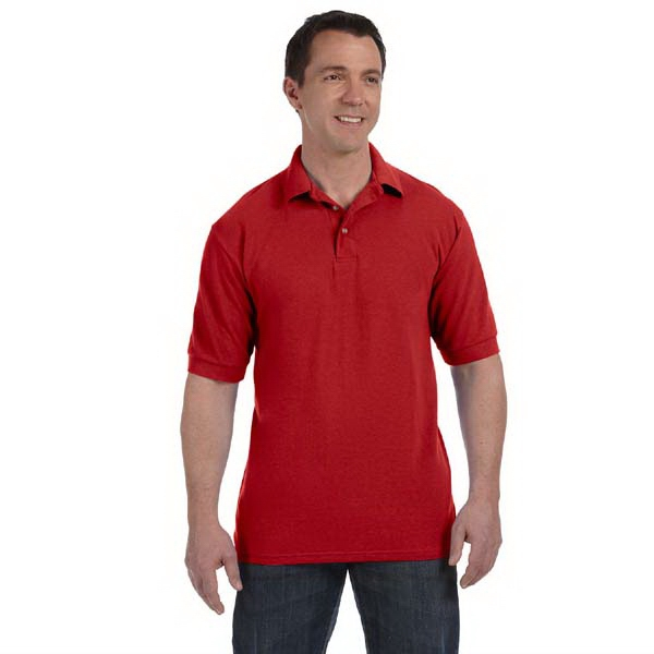 Hanes (r) - Colors 4 X L - Cotton Pique, 7 Oz. Polo Shirt With Welt Knit Collar And Cuffs Photo
