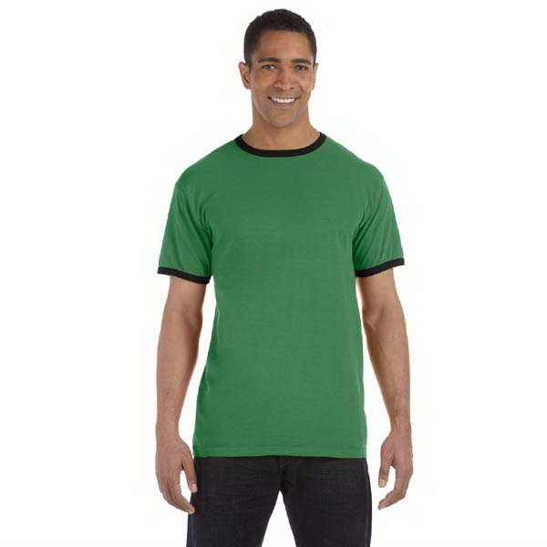 Authentic Pigment - 2 X L - Pigment-dyed Cotton Ringer T-shirt Photo