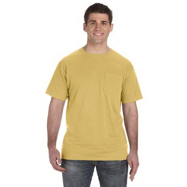 Authentic Pigment - M- X L - Pigment Dyed 5.6 Oz. Cotton T-shirt With Left Chest Pocket Photo