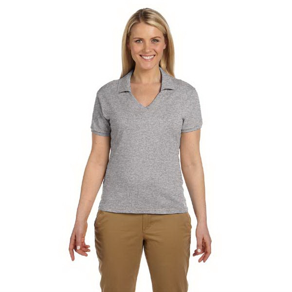 Jerzees (r) - Heathers S- X L - Ladies' 5.6 Oz. Jersey Knit Polo Shirt In Colors Photo