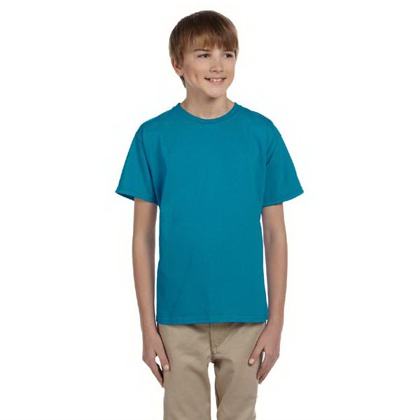 Jerzees (r) Hidensi-t (tm) - Heathers - Youth Preshrunk Cotton T-shirt, 5.4 Oz Photo