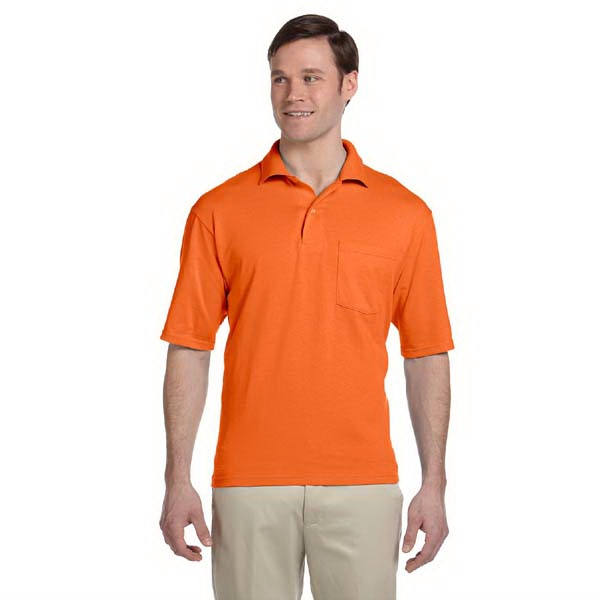 Jerzees (r) - Heathers 3 X L - Polyester/cotton Jersey Knit Pocket Polo Shirt With Left Chest Pocket Photo