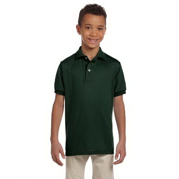 Jerzees (r) - Heathers - Youth, 5.6 Ounce Jersey Polo Shirt With Stain Resistance Photo