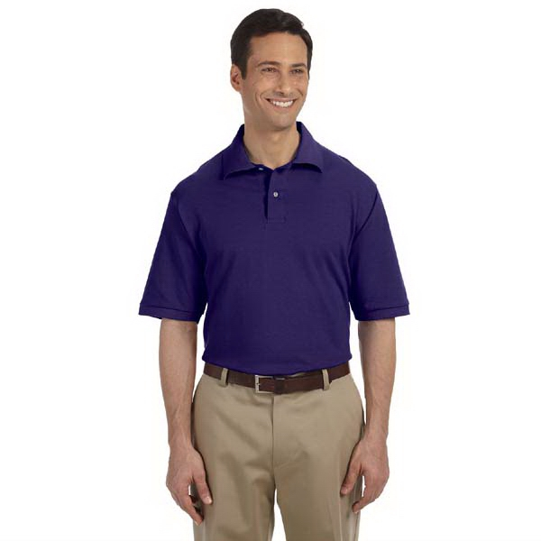 Jerzees (r) - Heathers 3 X L - Ringspun Cotton Pique Polo Shirt With Woodtone Buttons, 6.5 Oz Photo