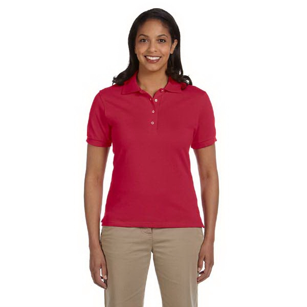 Jerzees (r) - Colors S- X L - Ladies' Ringspun Cotton Pique Polo Shirt Photo