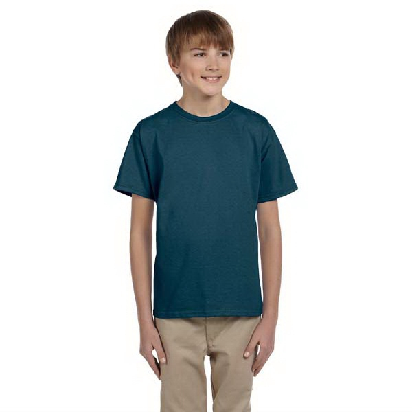 Hanes (r) - Colors - Youth 5.5 Oz., 50/50 Comfortblend (r) Ecosmart (tm) T-shirt Photo