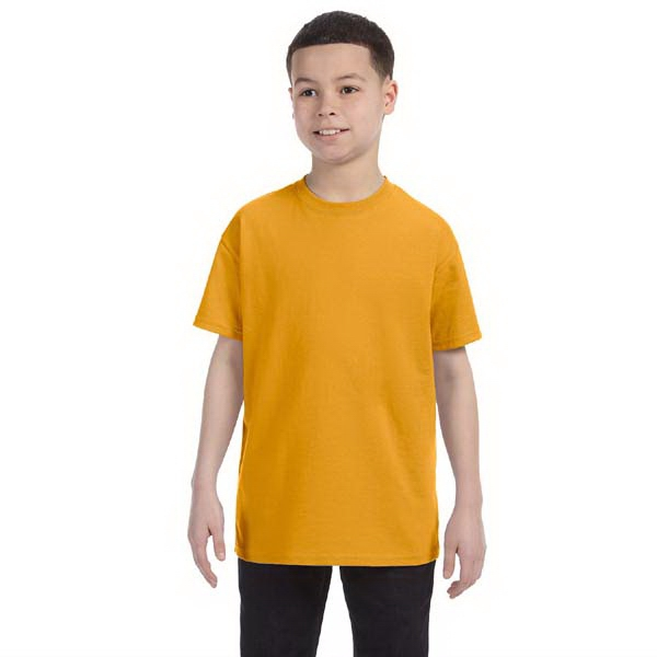 Best (tm) Fruit Of The Loom (r) - Neutrals - Seamless Youth Size Polyester/cotton T-shirt With Seamless Ribbed Collar Photo