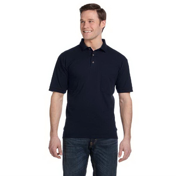 Anvil (r) - Heathers S- X L - Cotton Deluxe (r) Cotton 6.5 Oz. Pique Knit Polo Shirt With Pocket Photo