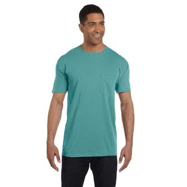 Comfort Colors 6.1 oz Ringspun Garment-Dyed Pocket T-Shirt - Adults 6.1 oz ringspun garment-dyed pocket t-shirt.