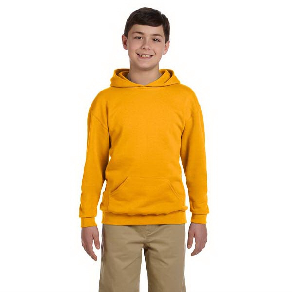 Jerzees (r) - Heathers - Youth Size Poly/cotton Fleece Pullover Hood Styled Sweatshirt Photo
