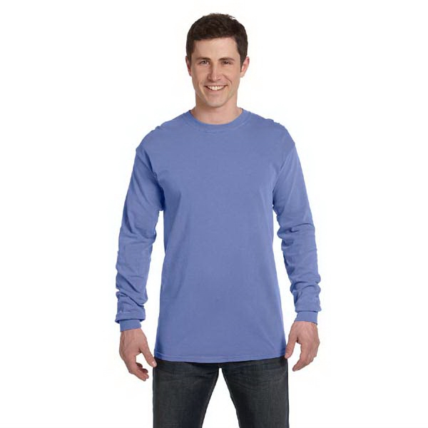 Comfort Colors - 2 X L - Ringspun Garment Dyed Long Sleeve T-shirt, Ribbed Collar And Cuffs Photo