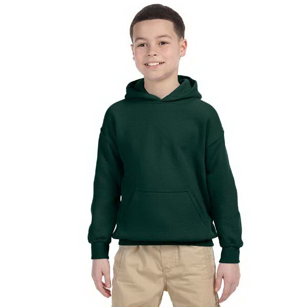 Gildan (r) - Colors - Youth 7.75 Oz. Heavy Blend (tm) 50/50 Hooded Sweat Shirt Photo