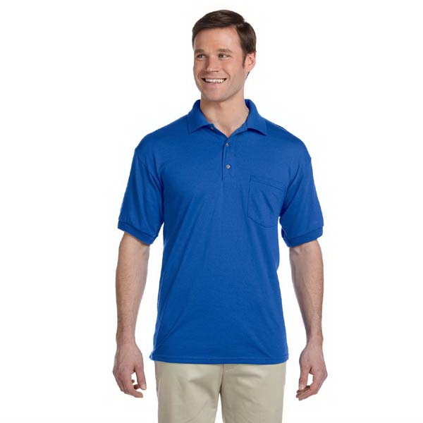 Gildan (r) - Heathers 5 X L - Jersey Polo Shirt With Pocket Photo
