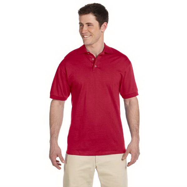 Jerzees (r) - Heathers 3 X L - Cotton Jersey Sport Polo Shirt With Horn-tone Buttons, 6.1 Oz Photo