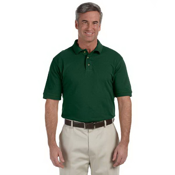 Harriton - 2 X L - Men's 6 Oz. Ringspun Cotton Pique Short-sleeve Polo Shirt Photo