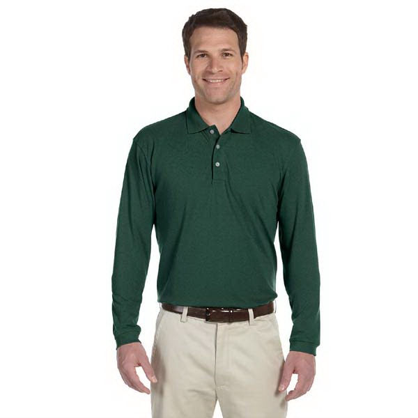 Harriton -  X S- X L - Men's 5.6 Oz. Long-sleeve Polo Shirt Photo