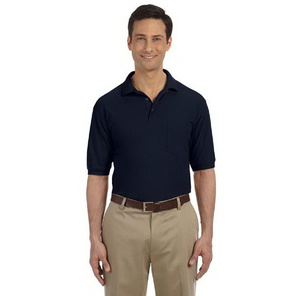 Harriton - S- X L - Men's 5.6 Oz. Polo Shirt With Left Chest Pocket Photo