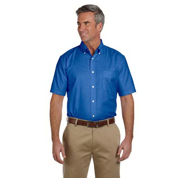 Harriton -  X S- X L - Men's Short-sleeve Oxford With Stain Release Shirt Photo