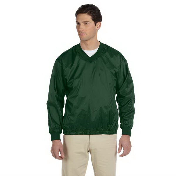 Harriton - S- X L - Men's Athletic V-neck Pullover Jacket Made Of 100% Nylon Photo