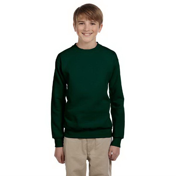 Hanes (r) - Heathers - Youth, 7.8 Oz. Fleece Crew Sweat Shirt Photo