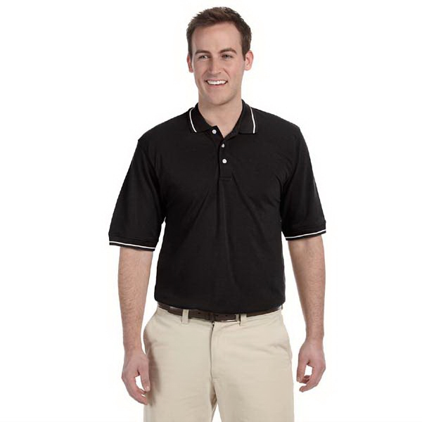 Harriton - S- X L - Tipped Easy Blend Polo Shirt, 5.6 Oz Photo
