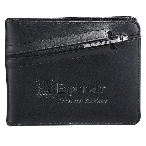 Cross (r) - Black Bonded Leather Passport Wallet With Zipper Closure Photo