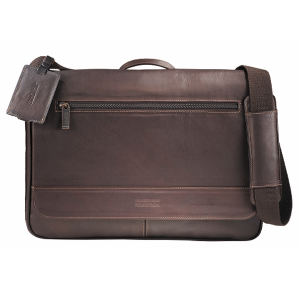 "Kenneth Cole (r) - Columbian Leather Compu-messenger Bag, Holds 15"" Laptop Photo"