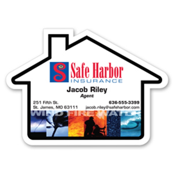 Jumbo House Shaped Stock Magnet Photo