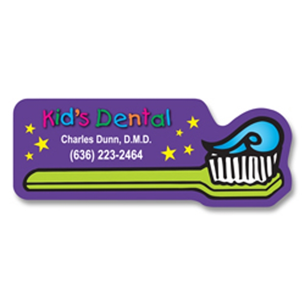 Toothbrush Design Flat Flexible Stock Magnet Photo