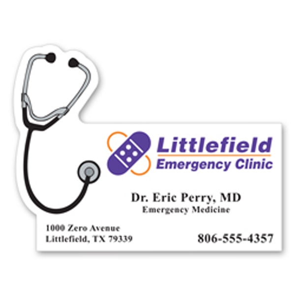 Flat Flexible Magnet With Stethoscope Design Photo