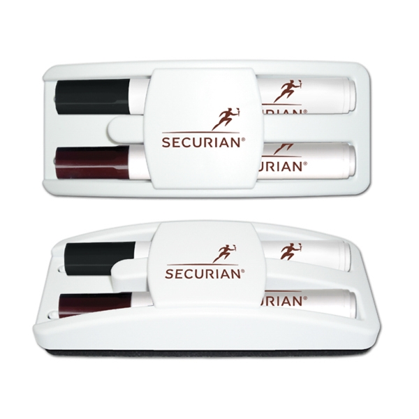 Dry Erase Gear Marker & Eraser Set