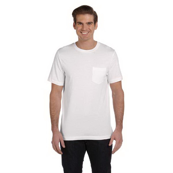 Bella + Canvas (tm) Los Angeles The Retail Jersey Collection - White S- X L - Men's 4.2 Oz Jersey Pocket T-shirt Photo