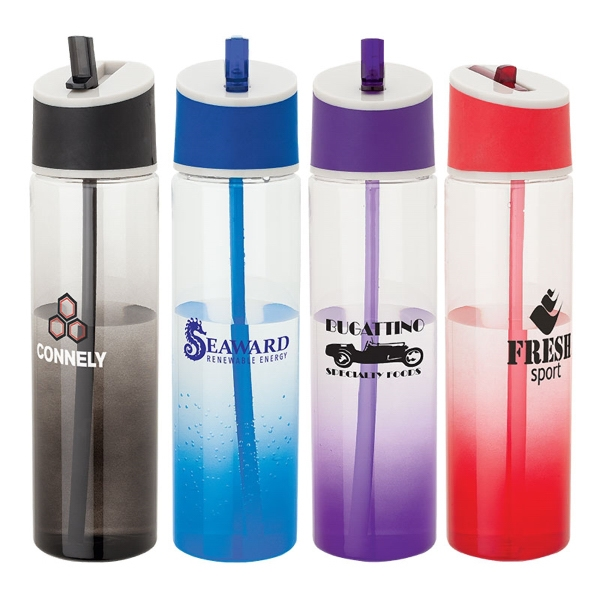 22 Oz. Tritan Water Bottle With Spray Color Gradient Photo
