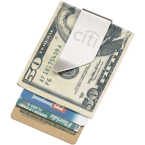 Executive Series - Money Clip - Best You Will Ever Use. Slim, Stylish In Brushed Stainless Steel Photo