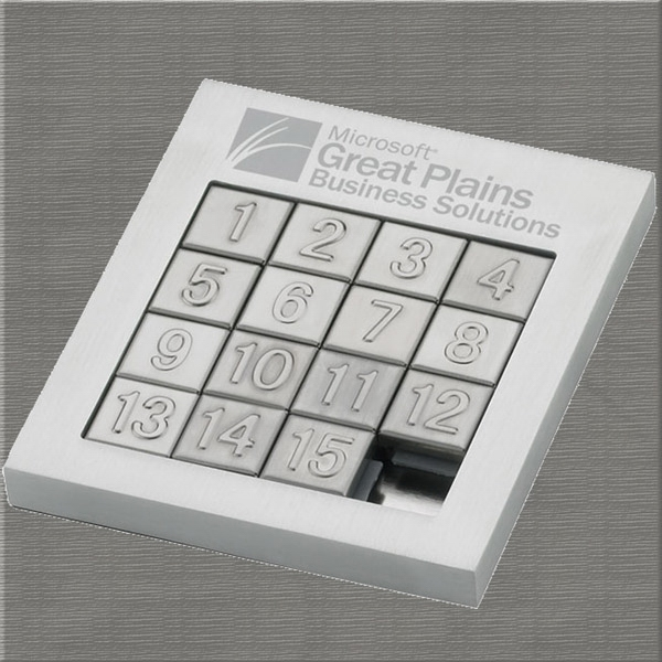 Executive Series - Puzzle Game - Desktop Executive Gift Puzzle Game. Brushed Aluminum Photo