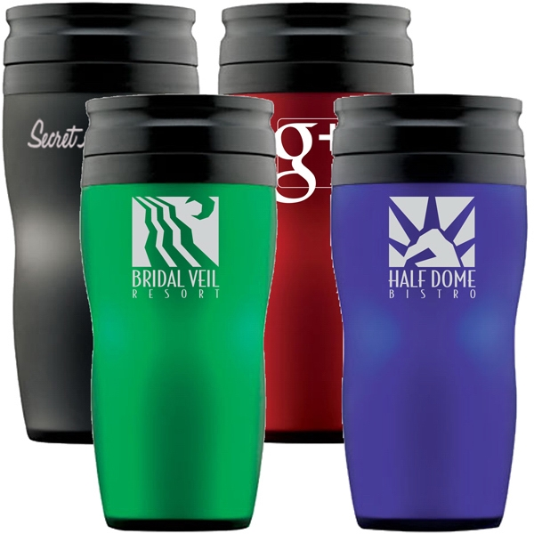 Vienna - Soft Touch 16 Oz. Travel Tumbler With Thumb Slide Lid. Handled Mug Also Available Photo