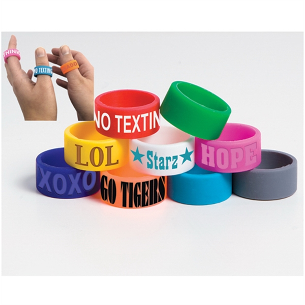 Silicone Ring. Wear On Your Fingers Or Thumbs Photo