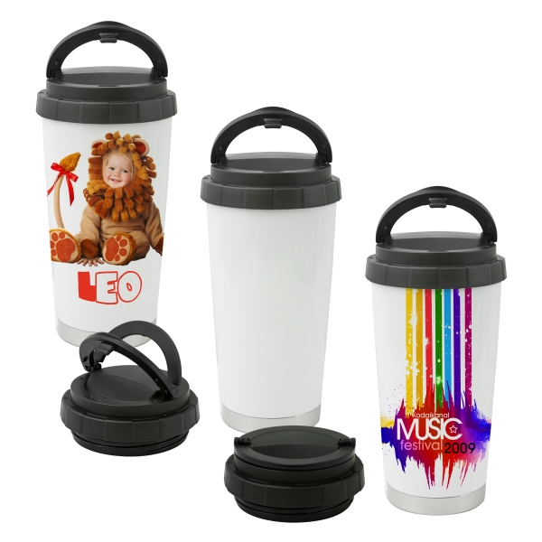 16 oz White Sublimation Thermos