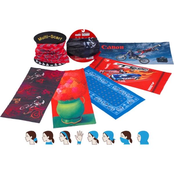 100% Microfiber Multi Functional Scarf/Neck-wrap/Tube - 100% Microfiber Multi Scarf/Neck Wrap/Headband - Full Wrap