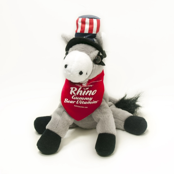 "7"" Donkey Demi w/ Hat with accessory and imprint"