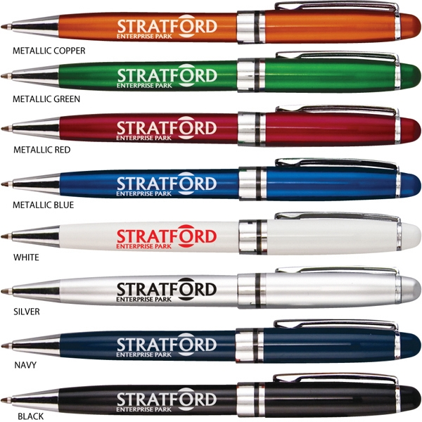 Stratford - Catalog 5-7 Day Production - Classic Executive-style Design Pen With Gloss Finish Barrel And Metal Clip Photo