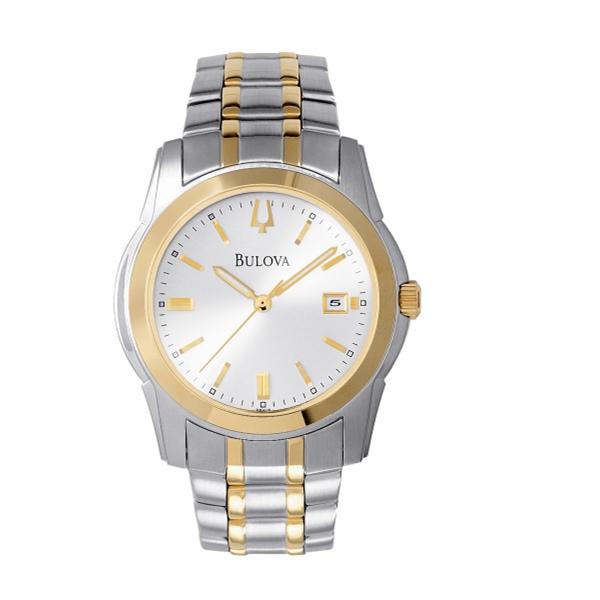 Bulova Men's Bracelet Silver Dial 2-tone Watch