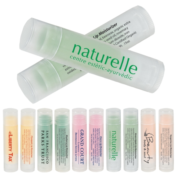 Fruit Flavored Lip Moisturizer In Clear-frosted Tubes Photo