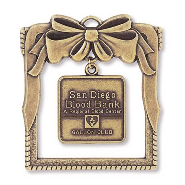 Charm Collection - Die Cast - Stock Window Ornament With Brass Charm And Matching Cord Photo