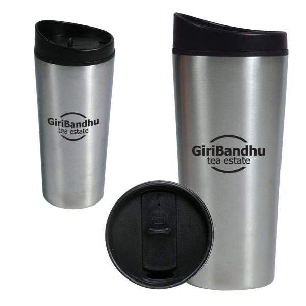 Stainless Steel Tumbler With Slide Lock Lid Photo