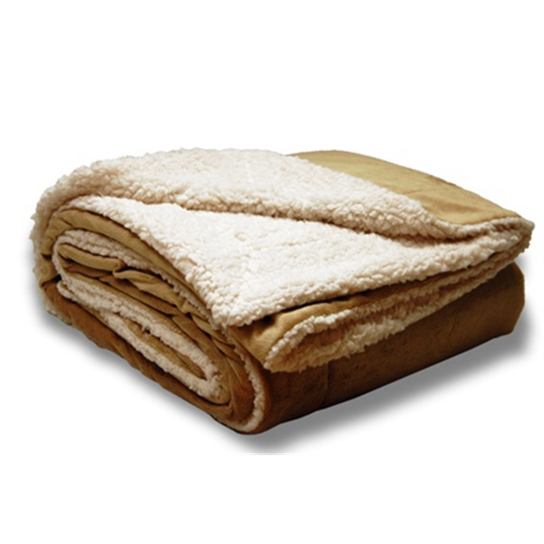 Oversize Sherpa Blanket Embroidered