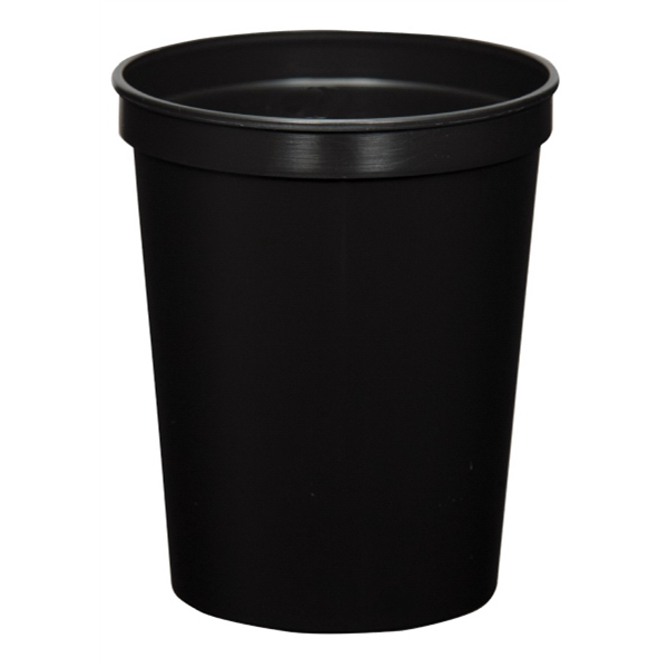 Black - 16oz Stadium Cup (squat) - 17 Opaque And 4 Translucent Colors Photo