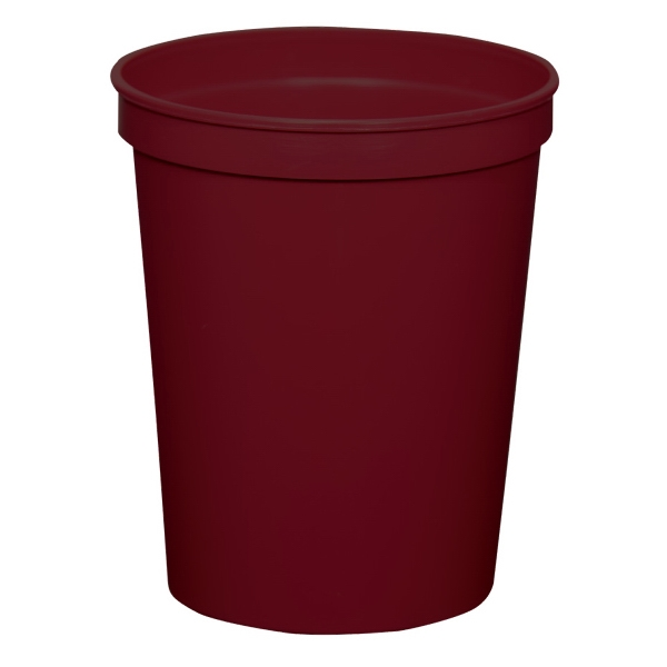 Maroon - 16oz Stadium Cup (squat) - 17 Opaque And 4 Translucent Colors Photo