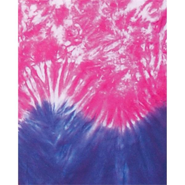 Women's Team Horizontal Wave Long Sleeve T-Shirt Tie Dye