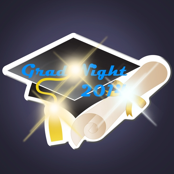 Imprinted Grad Cap LED Pin